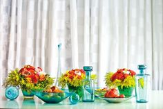 elegant thanksgiving tablescapes turquoise - Google Search
