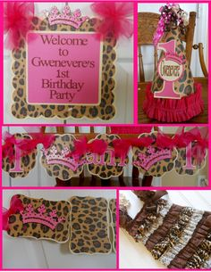 Princess  Leopard and Pink 1st Birthday by ASweetCelebration
