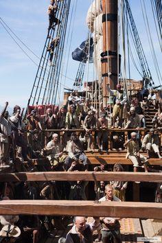 "Hal Gates and William ""Billy Bones"" Manderly - Mark Ryan and Tom Hopper in Black Sails Season 1 (TV series)."
