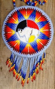 native american beadwork wolves - Google Search