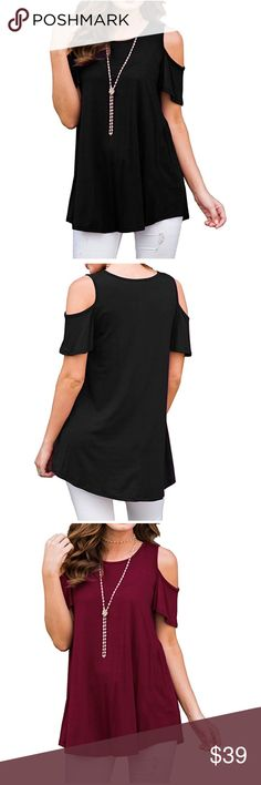 Beautiful women short sleeve cold shoulder top Beautiful women short sleeve casual cold shoulder loose blouse shirts material polyester + spandex super soft and lightweight Tops