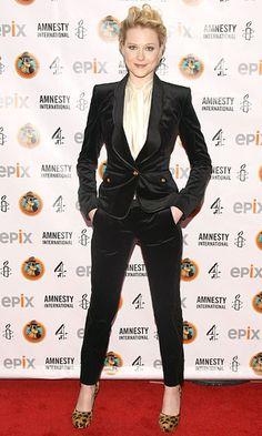 Evan Rachel Wood, power suit