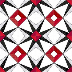 EQ7 image of Starburst quilt center
