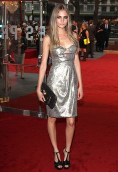 Cara Delevigne at the Anna Karenina London Premiere  - HarpersBAZAAR.com