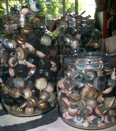 jars full of doll eyes Doll Eyes, Doll Face, Creepy Toys, Curiosity Shop, Vintage Medical, Vintage Keys, Antique Bottles, Doll Parts, Old Dolls