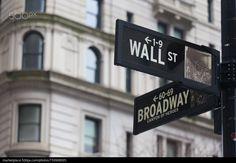 Wall st. street sign, New York, USA. - stock photo