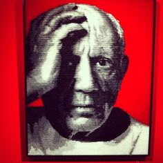 Picasso from Francesco Granducato 2011 - Polypropylene, mixed Media - made of painted plastic straws