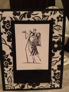 Nightmare Before Christmas Jack Sally Card Handmade Halloween Card   eBay
