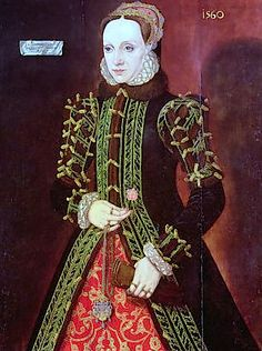 Circa 1560, Elizabeth FitzGerald, Countess of Lincoln by Steven van der Meulen.  Lady Elizabeth wears a conical farthingale.