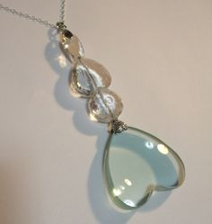 Miss Marples Magnifying Glass Heart Shape Pendant Necklace Inspired by Miss Marple