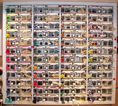 Organized by SU color family; room for classic and craft ink, reinkers, markers, sponge, etc