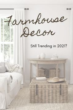 Home decorating trends come and go each and every year. But some stick around for much longer than others. If you've been wondering if your rustic home is current with decorating trends, click… More Shabby Chic Farmhouse, Farmhouse Style Decorating, Farmhouse Design, Rustic Chic, Shabby Chic Decor, Farmhouse Decor, Interior Decorating, Interior Design, Modern Farmhouse