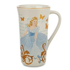 Disney Store Cinderella Coffee Mug Tall Cup Live Action Movie New for 2015