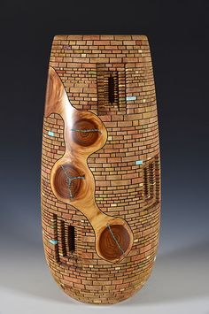 Jim McLain - Chaco Passages - Aligator Juniper - Amazing wood turning art