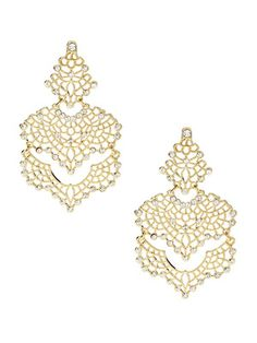 Amrita Singh Izabella Crystal Filigree Earrings