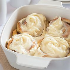 Easy Overnight Cinnamon Rolls for Two - A rich and indulgent breakfast with outrageously amazing cream cheese frosting. Make the rolls the night before, throw them in the oven in the morning, and enjoy your breakfast in bed. No fuss, stress, or mixer needed!