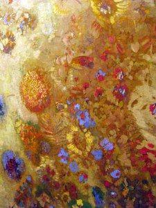 odilon redon fleurs - décor commandé par le baron Robert de Domecy pour son château