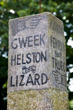 With Gweek, Helston and the Lizard on one side and Port Navas, Penryn and Truro on the other this milestone must be in Constantine West Cornwall, Devon And Cornwall, Yorkshire England, Yorkshire Dales, Oxford England, London England, Skye Scotland, Highlands Scotland, Amigurumi