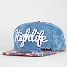 OFFICIAL Highlife Mens Snapback Hat #highlife #denim #acidwash #offiicail #brim