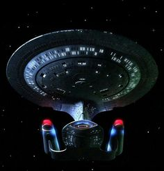 The Galaxy class U.S.S. Enterprise from the Star Trek Th Next Generation.