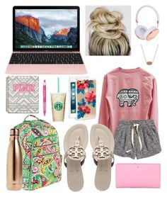 """""""Starbucks ☕️"""" by jadenriley21 on Polyvore featuring Sonix, Frends, Kate Spade, H&M, Tory Burch, Vera Bradley, S'well and Kendra Scott"""
