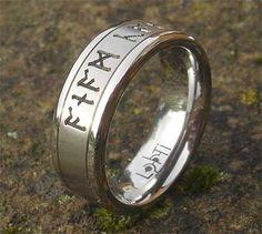 titanium runic ring
