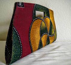 African Clutch Bag, handmade ...