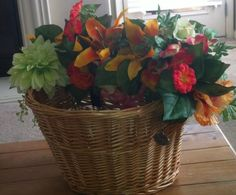 bicycle basket bouquet