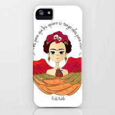 Frida Kahlo (spanish) iPhone & iPod Case by Samanta Garrido  - $35.00