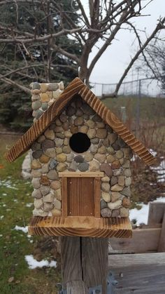 Check out this item in my Etsy shop https://www.etsy.com/listing/580603995/birdhouse-rustic-cabin-with #birdhouseideas