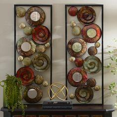 Mirrored Spirals Metal Plaques, Set of 2 | Kirklands
