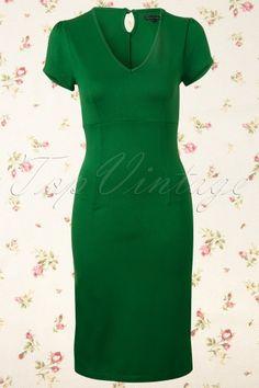 King Louie - 50s Marilyn Dress Milano in Green