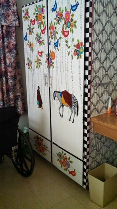 Painted cabinet for my mother in the rest home