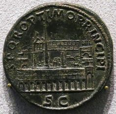 Sestertius of Trajan celebrating the restoration of the Circus Maximus (minted 103 AD)