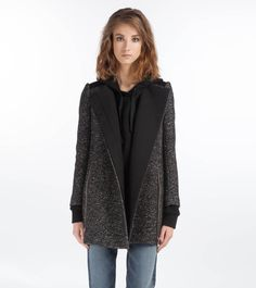 DUMBO - Collarless Tweed Coat by Maje ($740)