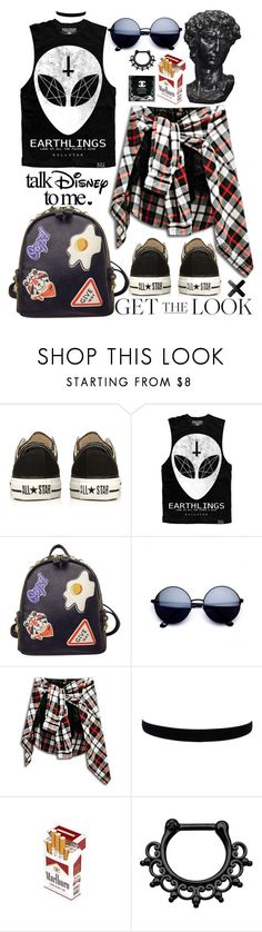 """Untitled #49"" by roxeyturner ❤ liked on Polyvore featuring Converse and WithChic"