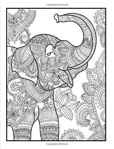 Amazon.com: Elegant Elephants: An Adult Coloring Book with Elephant Mandala Designs and Stress Relieving Patterns for Anger Release, Adult Relaxation, and Zen (9781539142843): Jade Summer, Adult Coloring Books: Books