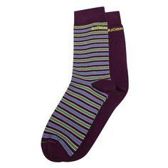 Bjorn Borg Men's Socks Plain and Striped Pack of 2 £14.99