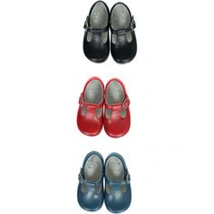 Soft Baby Boy t-bar shoes - Navy