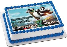 Kung Fu Panda 3 B Edible Birthday Cake Topper