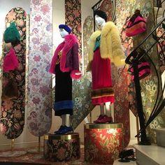 "SIMONETTA RAVIZZA, Via Montenapoleone, Milan, Italy, ""Fashion is Instant Language"", for Milan Fashion Week, pinned by Ton van der Veer"