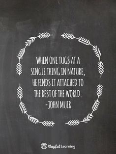 …attached to the rest of the world.  John Muir