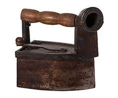 Plancha antigua de madera de mango y hierro II - marrón y negro