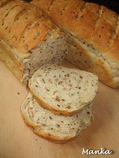 Hozzávalók: 1 kg BL 55 liszt 8 evőkanál rozspehely 4 evőkanál lenmag 8 evőkanál olívaolaj 1 evőkanál ecet 1,5 evőkanál só 50 g fr...