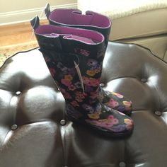 For Sale: Floral Rain Boots  for $15