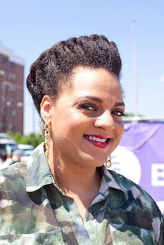 Street Style Hair: Eclectic Coifs  The 6th Annual Roots Picnic in Philadelphia, PA.  Photo Credit: Hannan Saleh > It's Marsha Ambrosius!