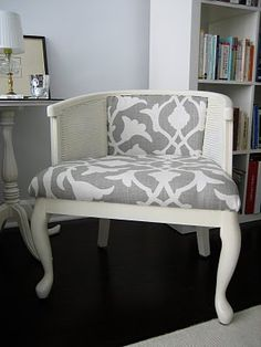 made-over cane chair