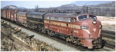 Pennsylvania Railroad, Locomotive, Diesel, Places To Go, Electric, Track, Cars, American, Photos