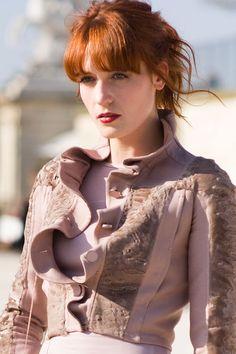 Florence Welc in Valentino. Paris fashion week AW 2011.