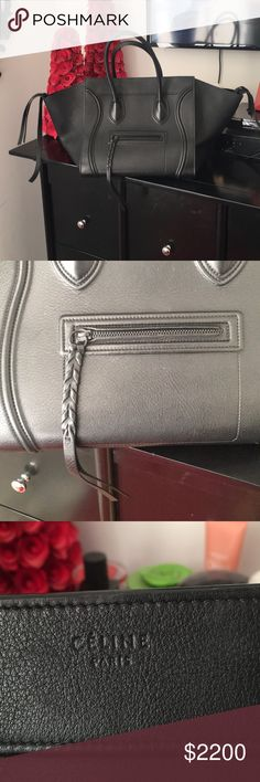 Handbag Black phantom bag purchased in 6-20-2014 from saks. In excellent condition. Dust bag included and purchase record from Saks 5th Ave. (relisting) I had to locate a purchase record for authenticity. Only serious inquires. Happy shopping Celine Bags Totes